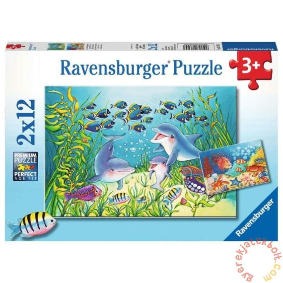 Ravensburger 2 x 12 db-os puzzle - Élet a tengerfenéken (07625)