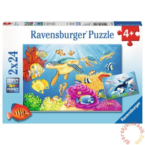 Ravensburger 2 x 24 db-os puzzle - Színes vízalatti világ (07815)