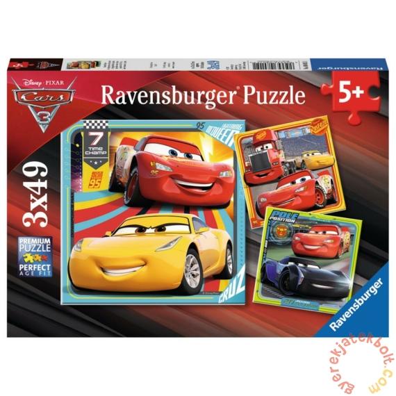 Ravensburger 3 x 49 db-os puzzle - Verdák 3 - Színpompás járgányok (08015)