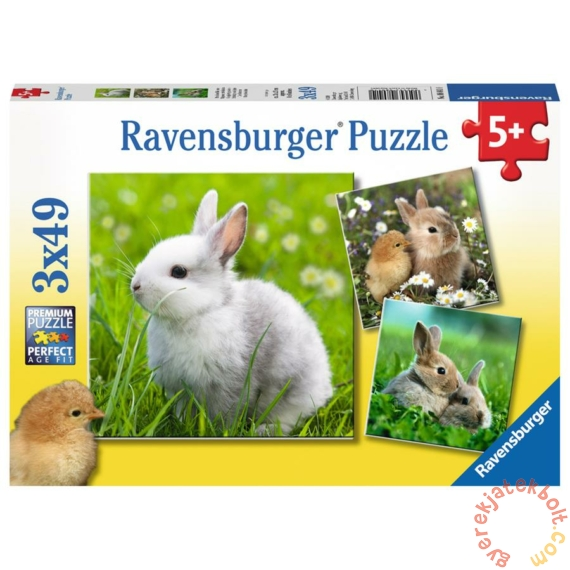 Ravensburger 3 x 49 db-os puzzle - Cuki nyuszik (08041)