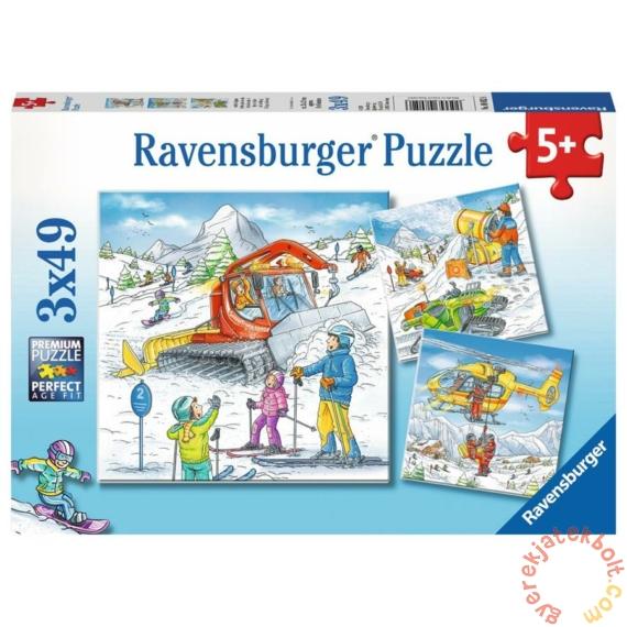 Ravensburger 3 x 49 db-os puzzle - A sípályán (08052)