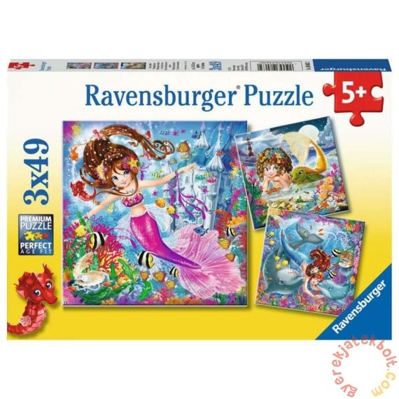 Ravensburger 3 x 49 db-os puzzle - Sellő és a tenger (08063)