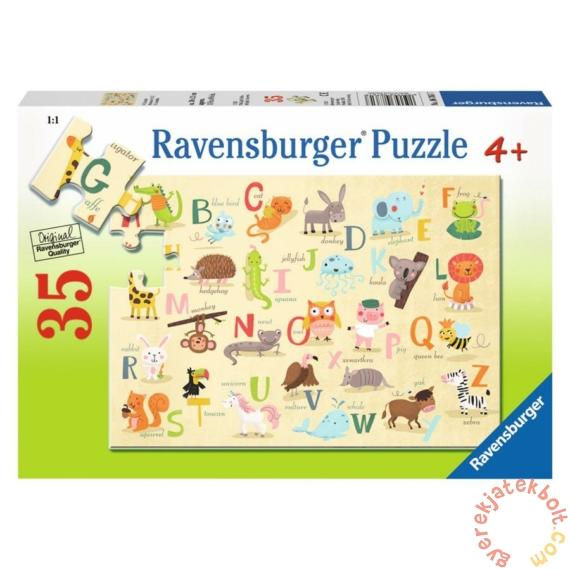 Ravensburger 35 db-os puzzle - Állatok A-tól Z-ig (08761)