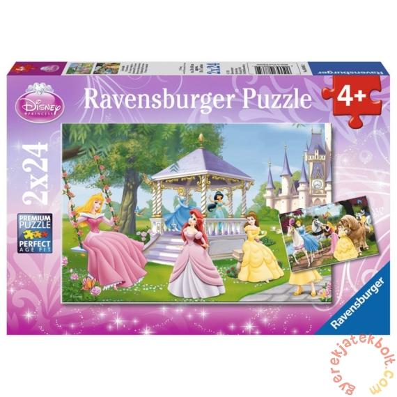Ravensburger 2 x 24 db-os puzzle - Disney Princess - A kertben (08865)