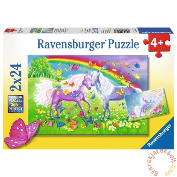 Ravensburger 2 x 24 db-os puzzle - Lovak és pillangók (09193)
