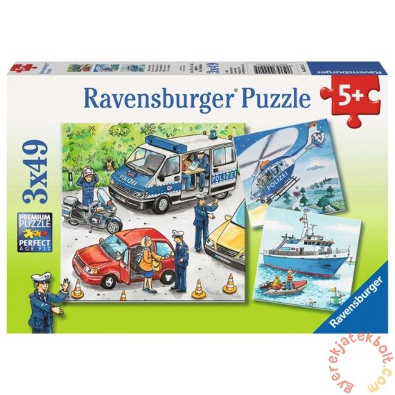 Ravensburger 3 x 49 db-os puzzle - Rendőrök (09221)