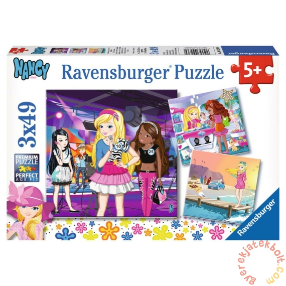 Ravensburger 3 x 49 db-os puzzle - Nancy és barátai (09236)