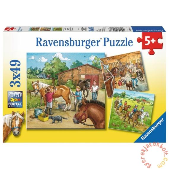 Ravensburger 3 x 49 db-os puzzle - Lovasiskola (09237)