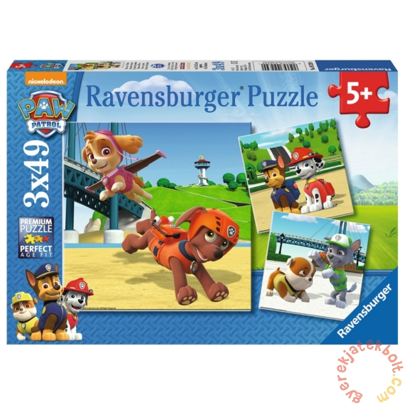 Ravensburger 3 x 49 db-os puzzle - Mancs őrjárat (09239)