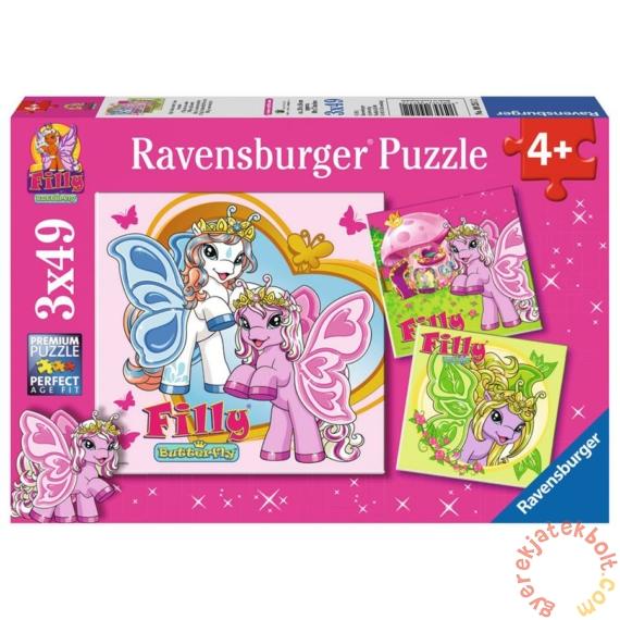 Ravensburger 3 x 49 db-os puzzle - Filly pillangó pónik (09251)