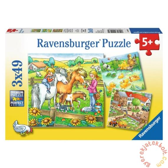 Ravensburger 3 x 49 db-os puzzle - Élet a farmon (09293)