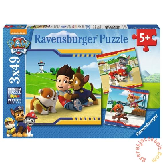 Ravensburger 3 x 49 db-os puzzle - Mancs őrjárat (09369)