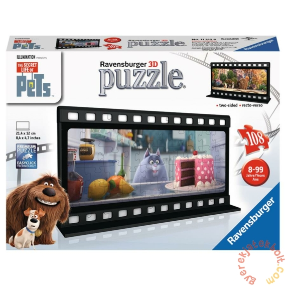Ravensburger 108 db-os 3D puzzle - A kis kedvencek titkos élete - Chloe filmszalag (11212)