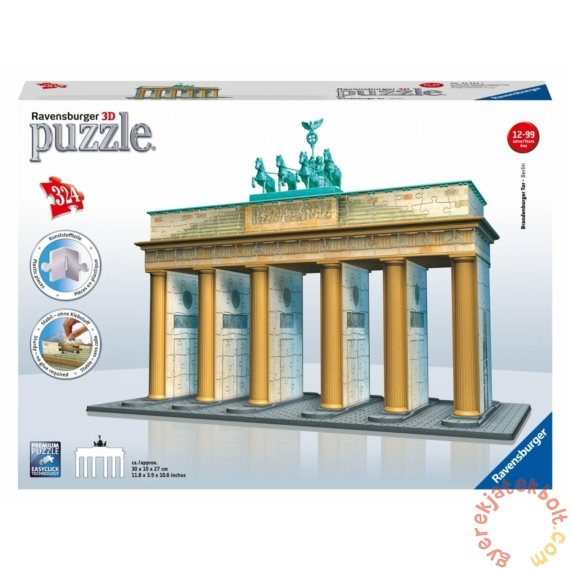 Ravensburger 324 db-os 3D puzzle - Brandenburgi kapu (12551)