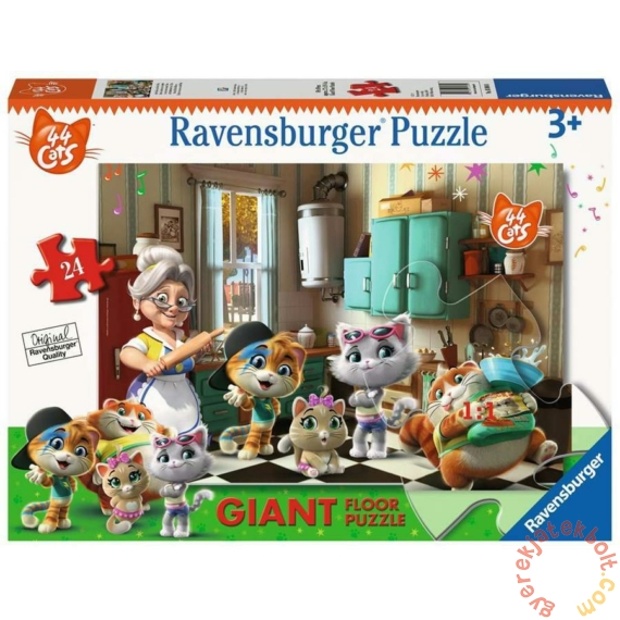 Ravensburger 24 db-os Floor puzzle - 44 csacska macska - A konyhában (03004)