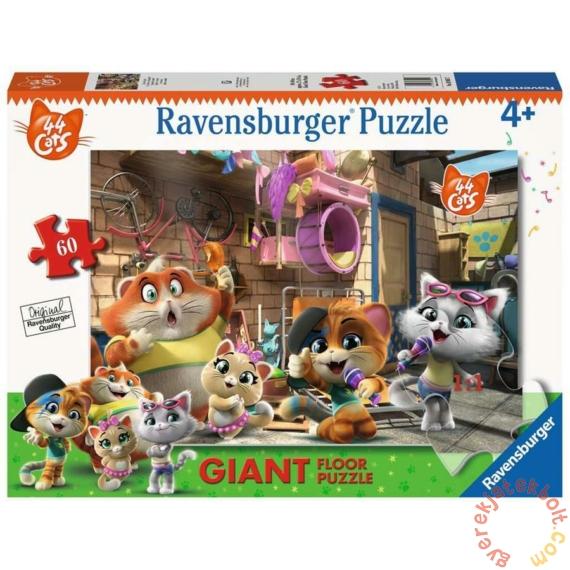 Ravensburger 60 db-os Floor puzzle - 44 csacska macska (03005)