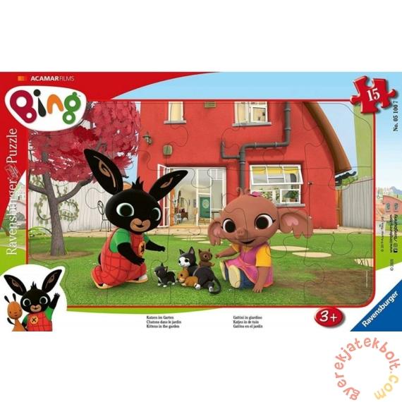 Ravensburger 15 db-os keretes puzzle - Bing a kertben (05100)