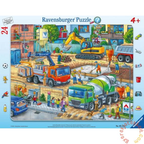 Ravensburger 24 db-os keretes puzzle - Építkezés (05142)