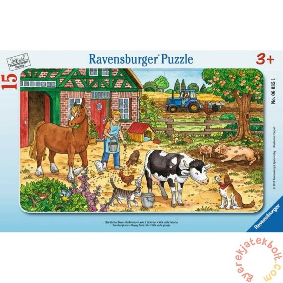 Ravensburger 15 db-os keretes puzzle - Tanyasi élet (06035)