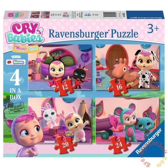 Ravensburger 4 az 1-ben puzzle (12, 16, 20, 24 db-os) - Cry Babies Magic Tears - Varázskönnyek (03052)