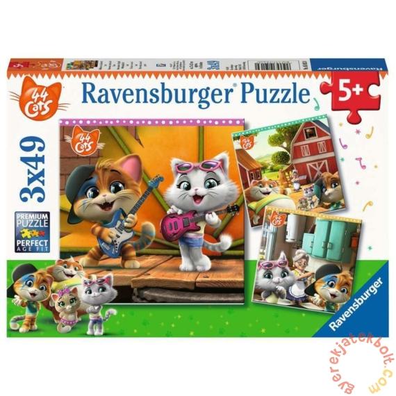Ravensburger 3 x 49 db-os puzzle - 44 csacska macska (05013)