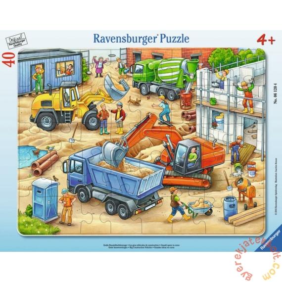 Ravensburger 40 db-os keretes puzzle - Munkagépek az építkezésen (06120)