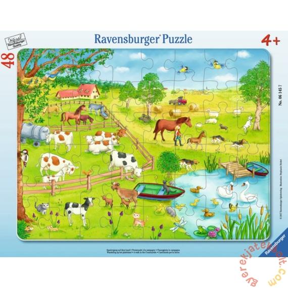 Ravensburger 48 db-os keretes puzzle - Séta vidéken (06145)