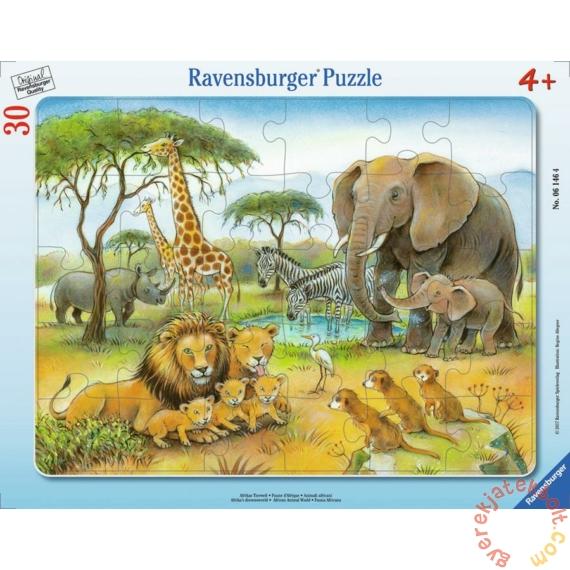 Ravensburger 30 db-os keretes puzzle - Afrika állatvilága (06146)