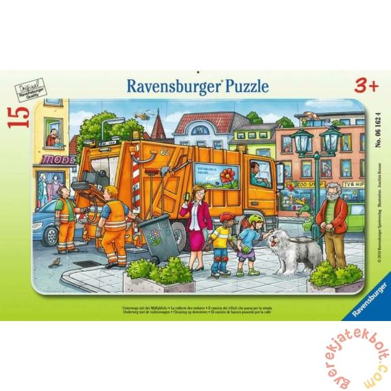 Ravensburger 15 db-os keretes puzzle - Takarítás a belvárosban (06162)