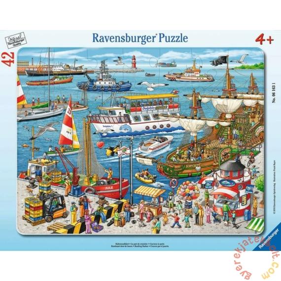 Ravensburger 42 db-os keretes puzzle - Nyüzsgő kikötő (06163)