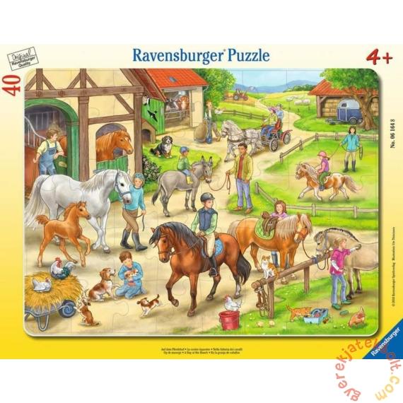 Ravensburger 40 db-os keretes puzzle - Egy nap a farmon (06164)