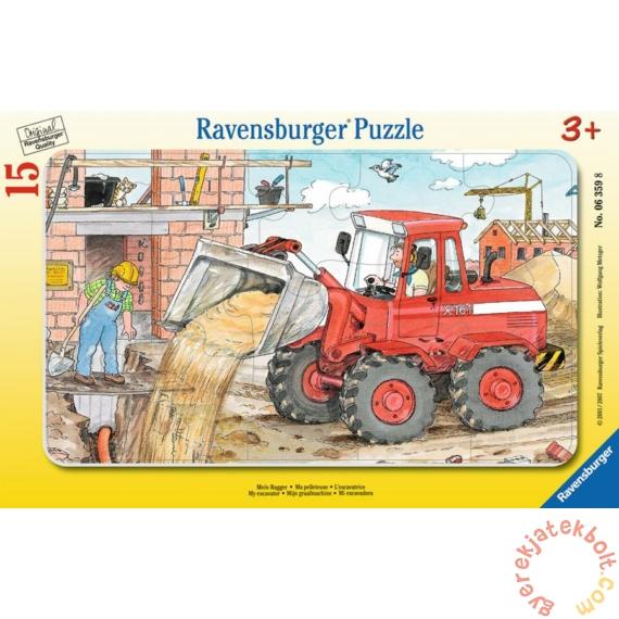 Ravensburger 15 db-os keretes puzzle - A markológépem (06359)