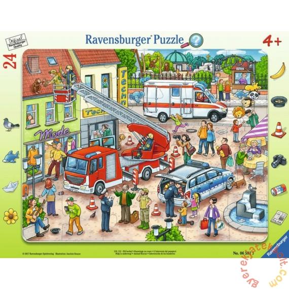 Ravensburger 24 db-os keretes puzzle - Állatmentés (06581)