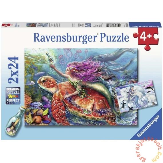 Ravensburger 2 x 24 db-os puzzle - A sellők kalandjai (07834)