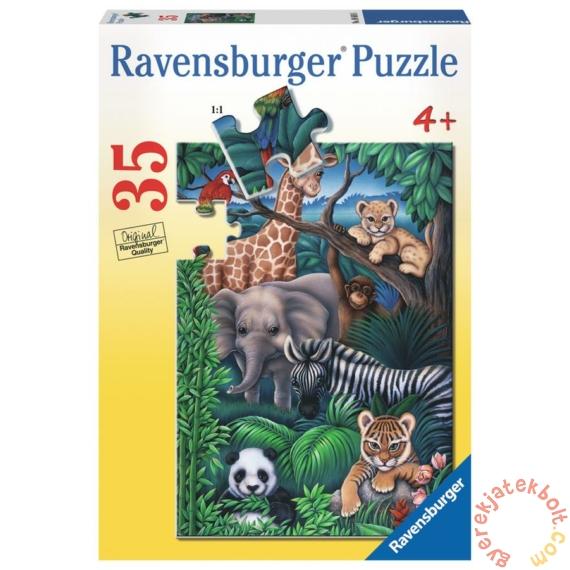 Ravensburger 35 db-os puzzle - A dzsungel állatai (08601)
