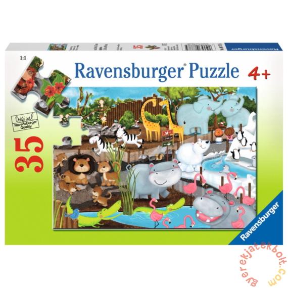 Ravensburger 35 db-os puzzle - Egy nap az állatkertben (08778)