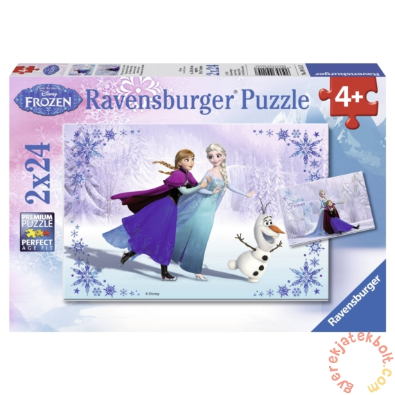 Ravensburger 2 x 24 db-os puzzle - Jégvarázs - Nővérek (09115)