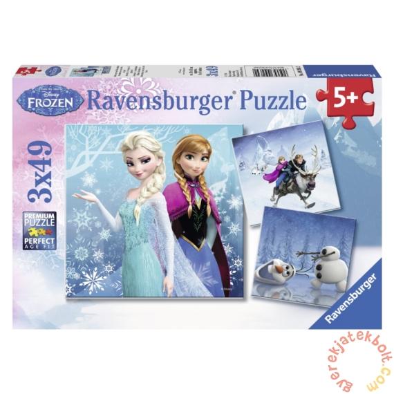 Ravensburger 3 x 49 db-os puzzle - Jégvarázs - Téli kalandok (09264)