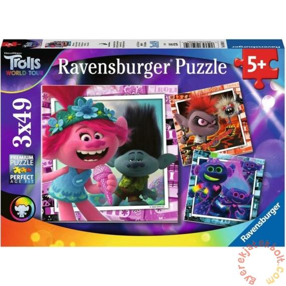 Ravensburger 3 x 49 db-os puzzle - Trollok a világ körül (05081)