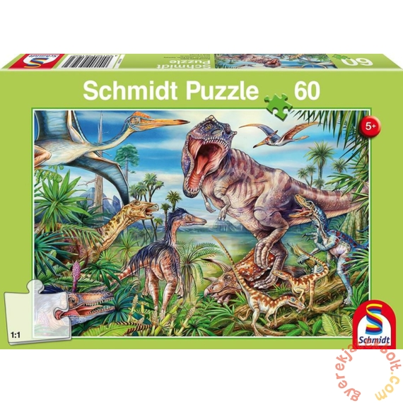 Schmidt 60 db-os puzzle - Amongst the dinosaurs (56193)