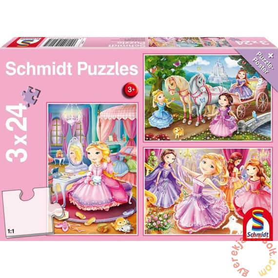 Schmidt 3 x 24 db-os puzzle - Fairytale Princesses (56217)
