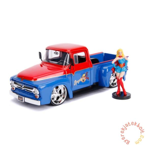 DC Comics - Bombshells fém autómodell - Supergirl figurával - 21 cm