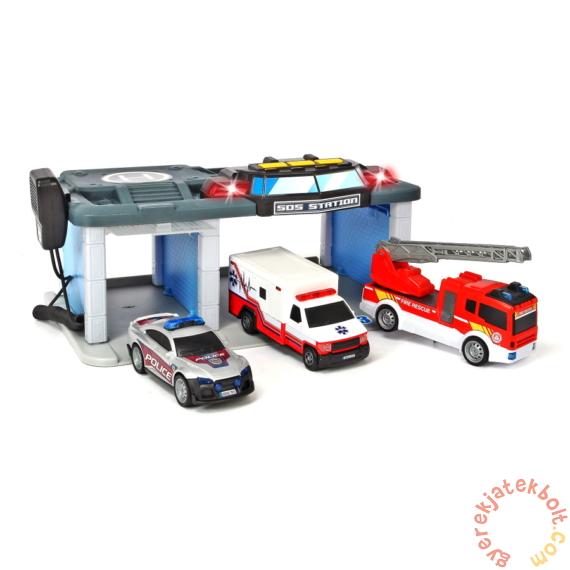 Dickie SOS Mentőállomás - 3 db járművel