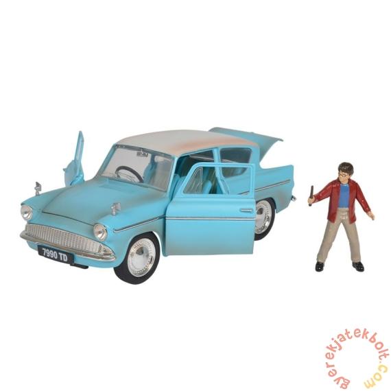 Hollywood Rides fém autómodell - Harry Potter figurával - 1959 Ford Anglia - 18 cm