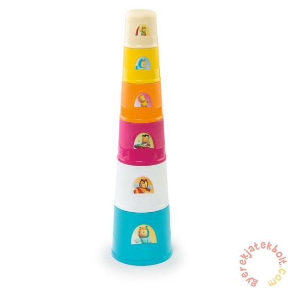 Smoby Cotoons mágikus torony csészerakosgató (110405)