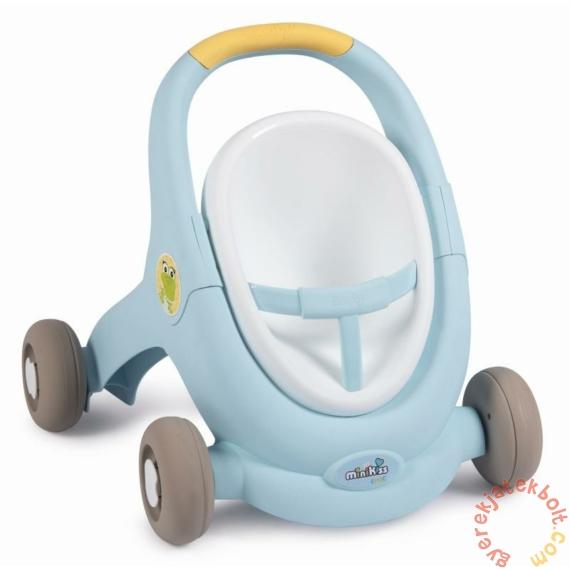 Smoby Minikiss 3 az 1-ben járássegítő, babakocsi és babaülőke - Krokodilos