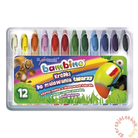 Bambino 12 színű arcfesték kréta (005046)