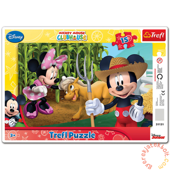 Trefl 15 db-os keretes puzzle - Minni és Mickey vidéken (31131)