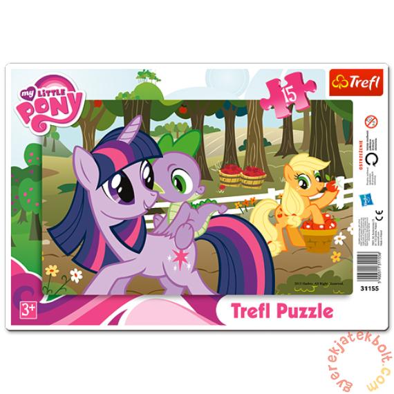 Trefl 15 db-os keretes puzzle - My Little Pony - A gyümölcsös (31155)