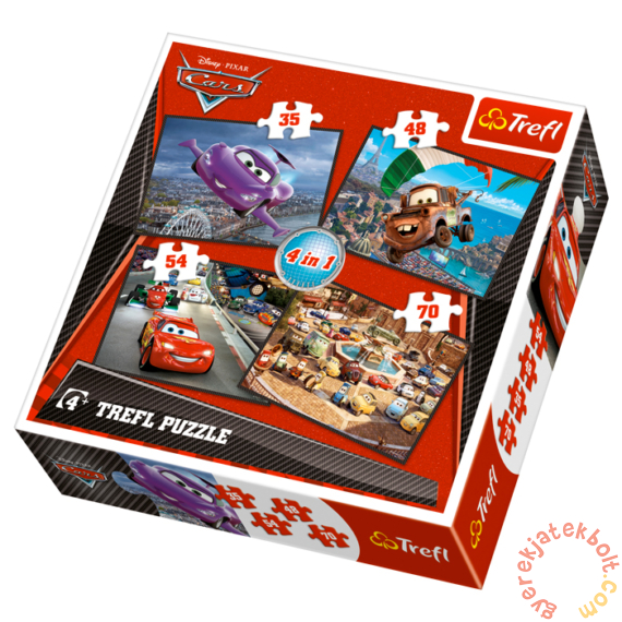 Trefl 4 az 1-ben puzzle (35,48,54,70 db-os) - Verdák 2. (34107)